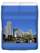 Harry Weese's Chicago River Cottages Duvet Cover by Christine Till