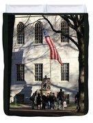 Harvard Statue Duvet Cover