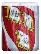 Harvard Veritas Banner Duvet Cover