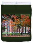 Harvard Yard Fall Colors Duvet Cover