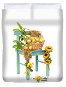 Harvest Fayre Duvet Cover by Amanda Elwell