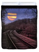 Harvest Moon Duvet Cover by Bill Cannon