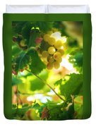 Harvest Time. Sunny Grapes Vii Duvet Cover by Jenny Rainbow