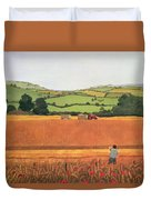 Harvesting In The Cotswolds Duvet Cover