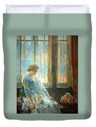 Hassam's The New York Window Duvet Cover