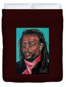 Hat Man - Portrait Duvet Cover