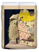 Hatbox Of Lace Duvet Cover
