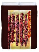 Hatch Red Chili Ristras Duvet Cover