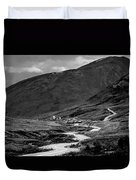 Hatcher's Pass In Black And White Duvet Cover