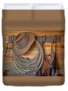 Hats And Chaps Duvet Cover