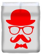Hats Glasses And Mustache Poster 3 Duvet Cover by Naxart Studio