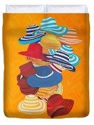 Hats Off Duvet Cover by Deborah Boyd