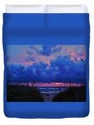 Hatteras Island Sunrise 1 11/01 Duvet Cover