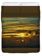 Hatteras Island Sunrise 3 9/10 Duvet Cover