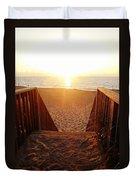 Hatteras Island Sunrise 6 8/23 Duvet Cover