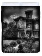 Haunted - Haunted House Duvet Cover by Mike Savad