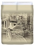 Haunted Mansion Hearse New Orleans Disneyland Heirloom Duvet Cover