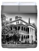 Haunted Mansion New Orleans Disneyland Bw Duvet Cover