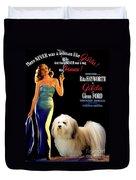 Havanese Art - Gilda Movie Poster Duvet Cover