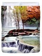 Havasau Falls Painting Duvet Cover