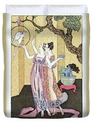 Have You Had A Good Dinner Jacquot? Duvet Cover by Georges Barbier