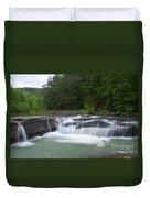 Haw Creek Falls Duvet Cover