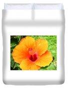 Hawaii Orange Hibiscus Duvet Cover