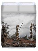 Hawaii Sculptures Duvet Cover