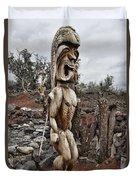 Hawaii Sculptures V2 Duvet Cover