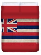 Hawaii State Flag  Duvet Cover
