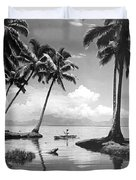 Hawaii Tropical Scene Duvet Cover by Underwood Archives