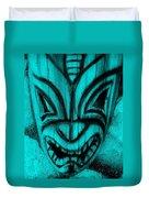 Hawaiian Aquamarine Mask Duvet Cover