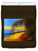 Hawaiian Coastal Sunset Duvet Cover