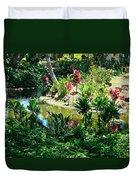 Hawaiian Cultural Garden Honolulu Airport Duvet Cover