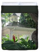 Hawaiian Gazebo Duvet Cover