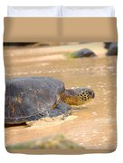 Hawaiian Green Sea Turtle 2 Duvet Cover