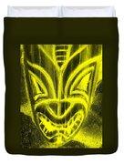 Hawaiian Mask Negative Yellow Duvet Cover