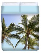Hawaiian Palm Trees Duvet Cover