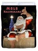Hawaiian Santa Duvet Cover