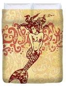 Hawaiian Style Mermaid Duvet Cover