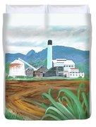 Hawaiian Sugar Mill Duvet Cover