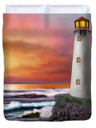Hawaiian Sunset Lighthouse Duvet Cover