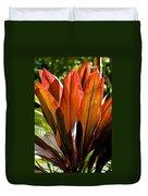 Hawaiian Ti Plant Duvet Cover