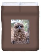 Brown Hawk Face Profile Duvet Cover