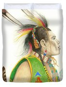 Hawk Foot Duvet Cover by Lew Davis