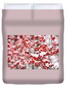 Hawthorn Berries Duvet Cover