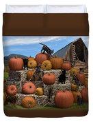 Haycats N' Pumpkins Duvet Cover