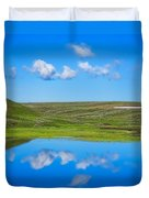 Hayden Valley Cloud Reflection Yellowstone National Park Duvet Cover