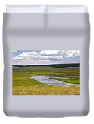 Hayden Valley In Yellowstone National Park-wyoming Duvet Cover
