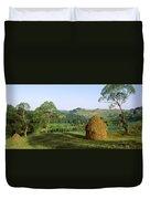 Haystack At The Hillside, Transylvania Duvet Cover